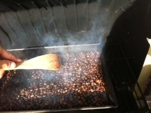 Green beans starting to smoke